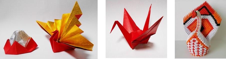 ツルの折り紙